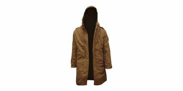 Coat with hood (lined)
