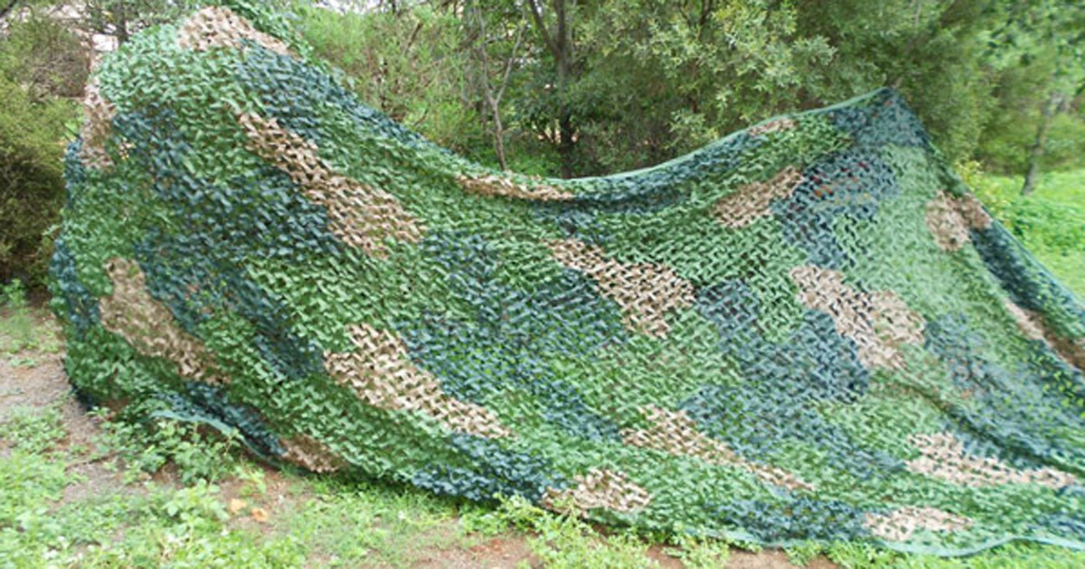 Large Military Netting Camo Tent Surplus Style Hunting