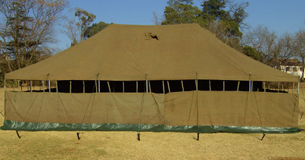 Tent (5m x 10m) - GRADE 1 & Tent (5m x 10m) - Used GRADE 1 | South African Military Surplus