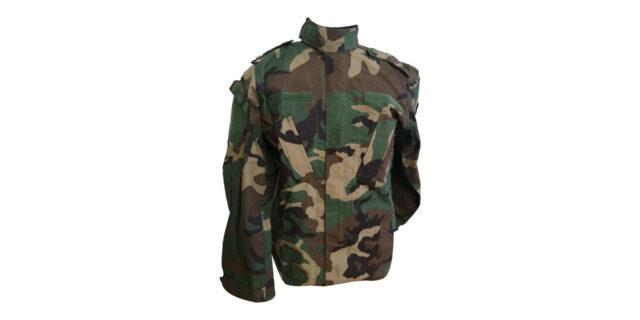 Woodland Camo Long Sleeve Shirt - NEW