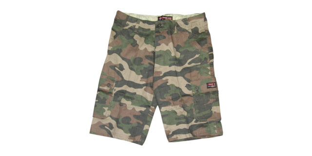 Urban Camo Cargo Shorts (Green) - NEW