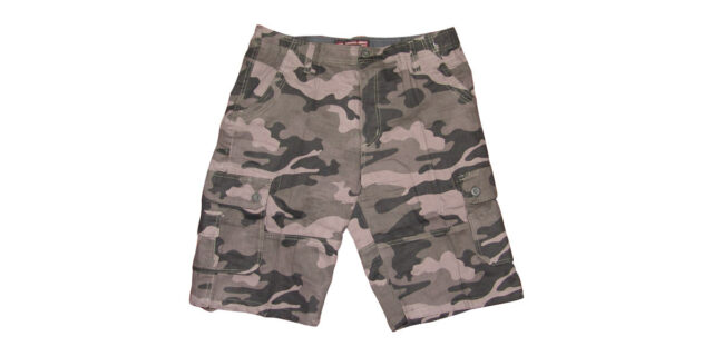 Urban Camo Cargo Shorts (Grey) - NEW