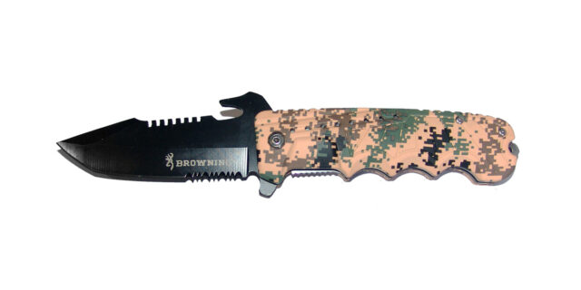 Folding Pocket Knife (Fine Digital Camo) - NEW
