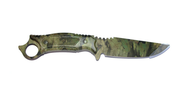 """Fisherman's"" Knife (Woodland Camo) - NEW"