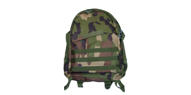 Backpack (3 Compartment, Woodland Camo) - NEW