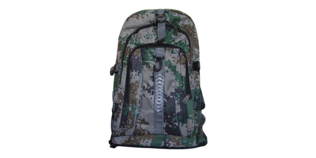 Backpack (3 Compartment, Green/Grey Digital Camo) - NEW