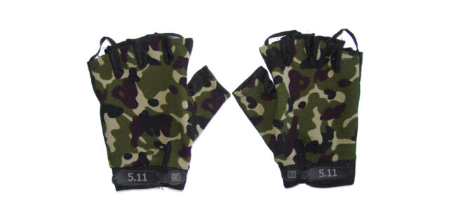 Half Finger Gloves (Woodland Camo) - NEW