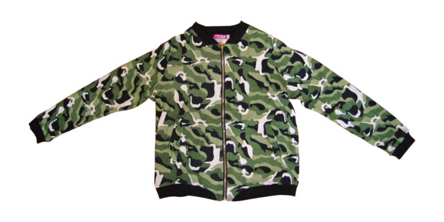 Long Sleeve Zip Top (Green Camo) - NEW