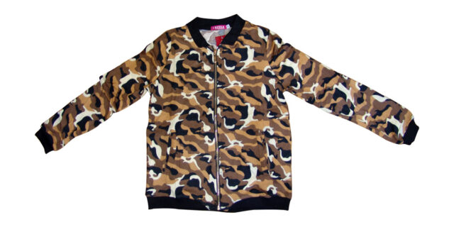 Long Sleeve Zip Top (Brown Camo) - NEW