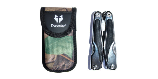 Multi-Tool with Forest Camo Pouch