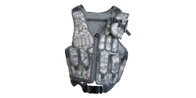 Tactical Vest (Grey Digital Camo) - NEW
