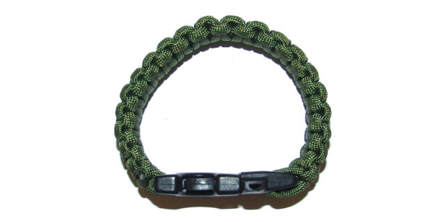 Paracord Bracelet with Whistle (Olive Drab) - NEW