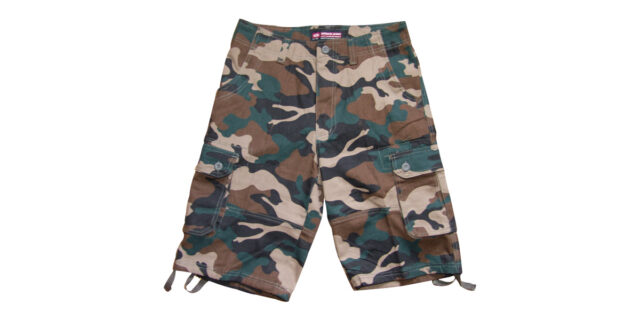 Urban Camo Cargo Shorts (Dark Green) - NEW