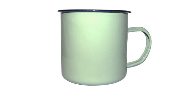 Enamel Mug, Medium (Mint Green) – NEW