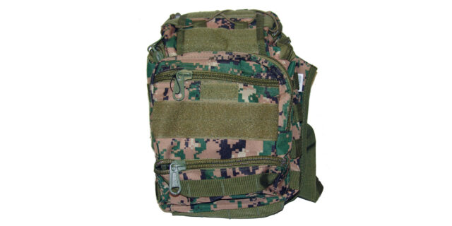 Versatile, 6 Compartment, Backpack/Shoulder Bag (Digital Woodland Camo) - NEW