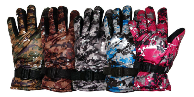 Digital Camouflage Gloves - Various Colours
