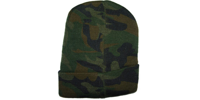 Knitted Beanie (Woodland Camo) - NEW