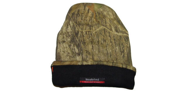Double-sided / Reverseable Beanie (Woodland Camo / Bright Orange) - NEW