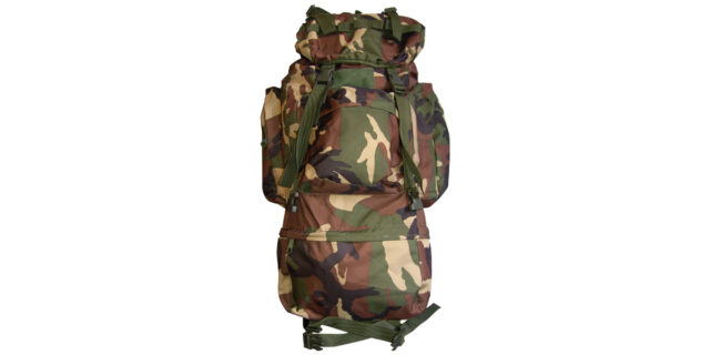 70L Woodland Camo Backpack - NEW