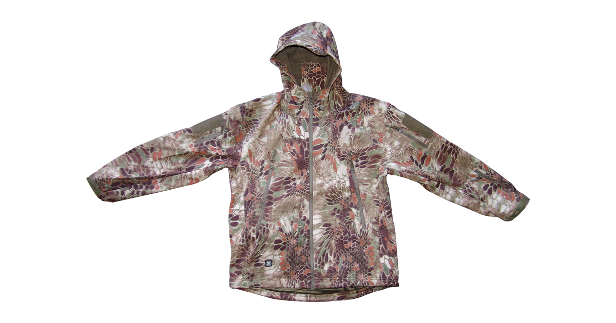 "Rattlesnake Camo ""Soft-Shell"" Jacket with Hood - NEW"
