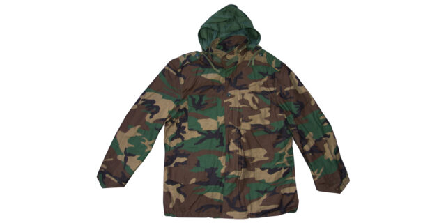 Woodland Camo Jacket with Hood - NEW
