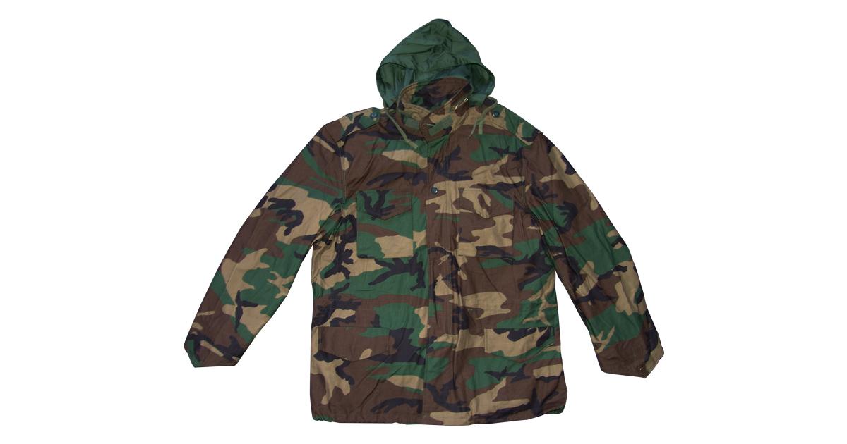 Woodland Camo Jacket with Hood - NEW