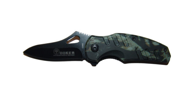 Small Folding Pocket Knife (Dark Forest Camo) - NEW
