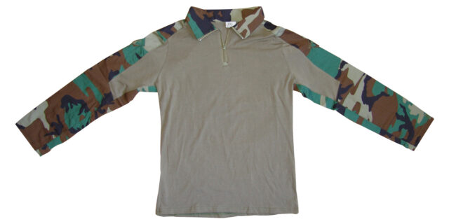 Woodland Camo Combat Shirt - NEW