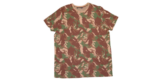 T-Shirt (Brown, Tan & Green Camo) - NEW