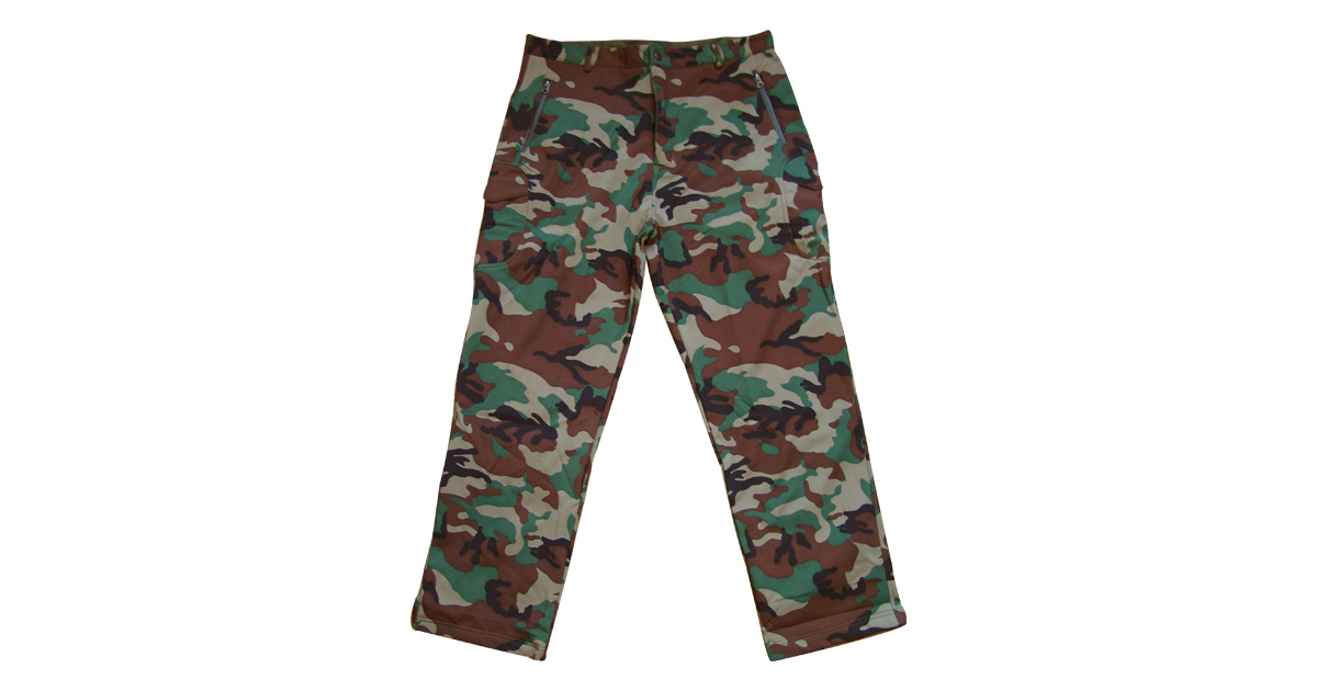"""Woodland Camo """"Soft Shell"""" Combat Trousers - NEW"""