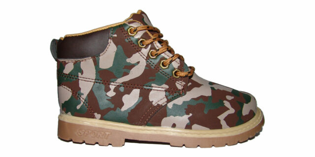 Children's Camo Boots (Bushveld Camo) - NEW