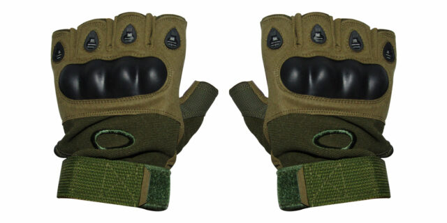 Half-Finger Gloves (Olive Green) - NEW