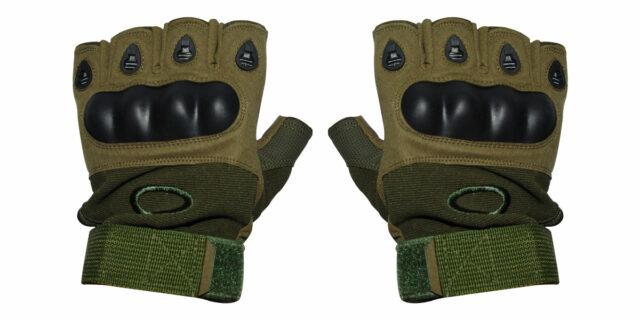 Half-Finger Gloves (Olive Green) - NEW