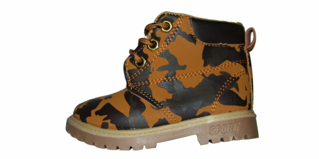 Infants Camo Boots (Sand Camo) - NEW