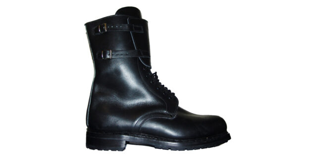 Italian Military Surplus Black Leather Boots (Never Issued or Worn)