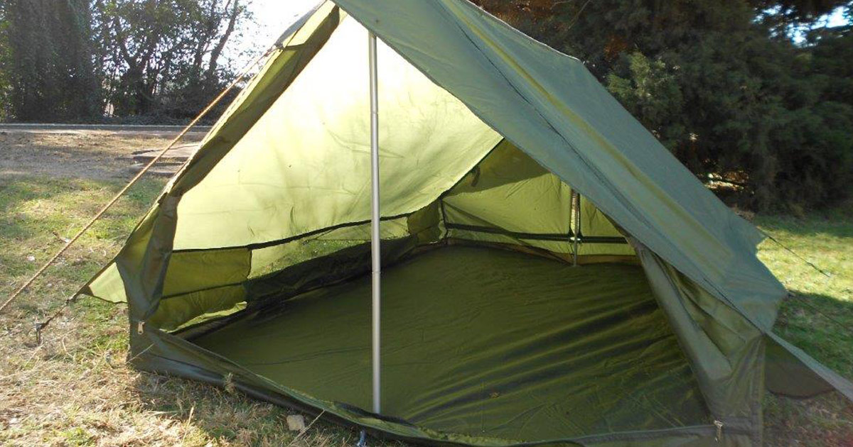 Lightweight 2 Man Cottage Tent (Olive Green) - NEW