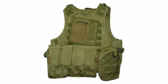 Tactical Vest (Heavy Duty, Olive Green) - NEW