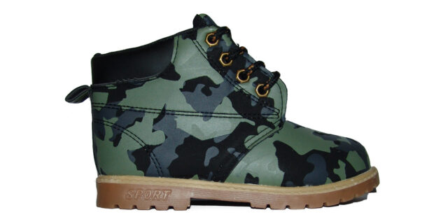 Toddlers Camo Boots (Urban Camo) - NEW