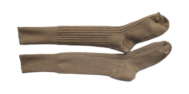 Army-type Long Socks with Sole Padding - NEW