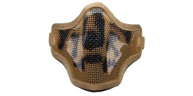 Metal Mesh Half Mask, Sand Colour - NEW