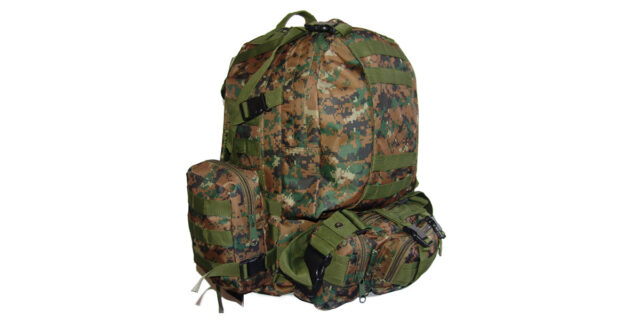 4 Piece Backpack +/- 35L Combo (Digital Woodland Camo) - NEW