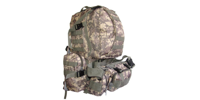 4 Piece Backpack +/- 35L Combo (Grey Digital ACU Camo) - NEW