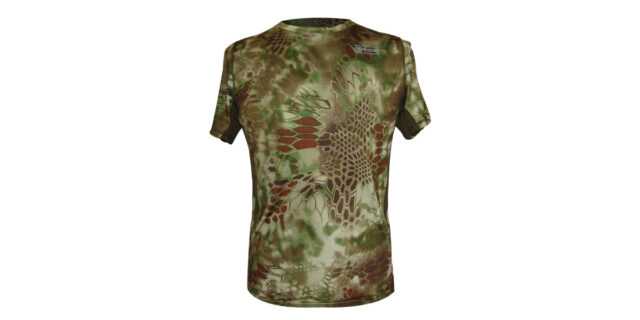 Green Rattlesnake Camo T-Shirt (Stretchy Material) - NEW