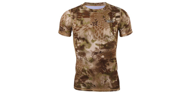Yellow Rattlesnake Camo T-Shirt (Stretchy Material) - NEW