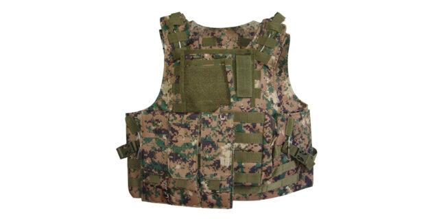 Tactical Vest (Heavy Duty, Digital Woodland Camo) - NEW