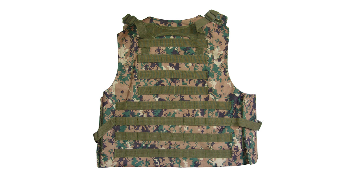 Tactical Vest (Heavy Duty, Digital Woodland Camo) - NEW