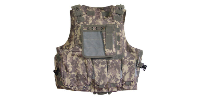 Tactical Vest (Heavy Duty, Grey Digital ACU Camo) - NEW