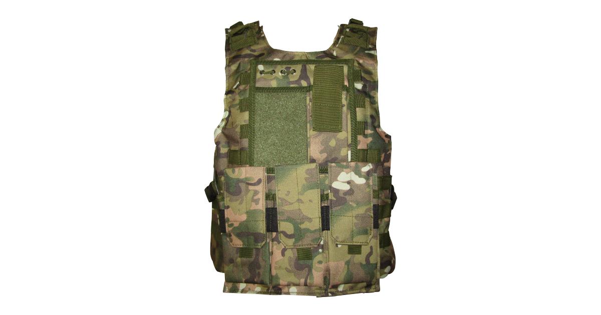 Tactical Vest (Heavy Duty, Multicam CP Camo) - NEW