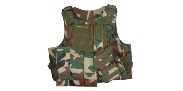 Tactical Vest (Heavy Duty, Woodland Camo) - NEW