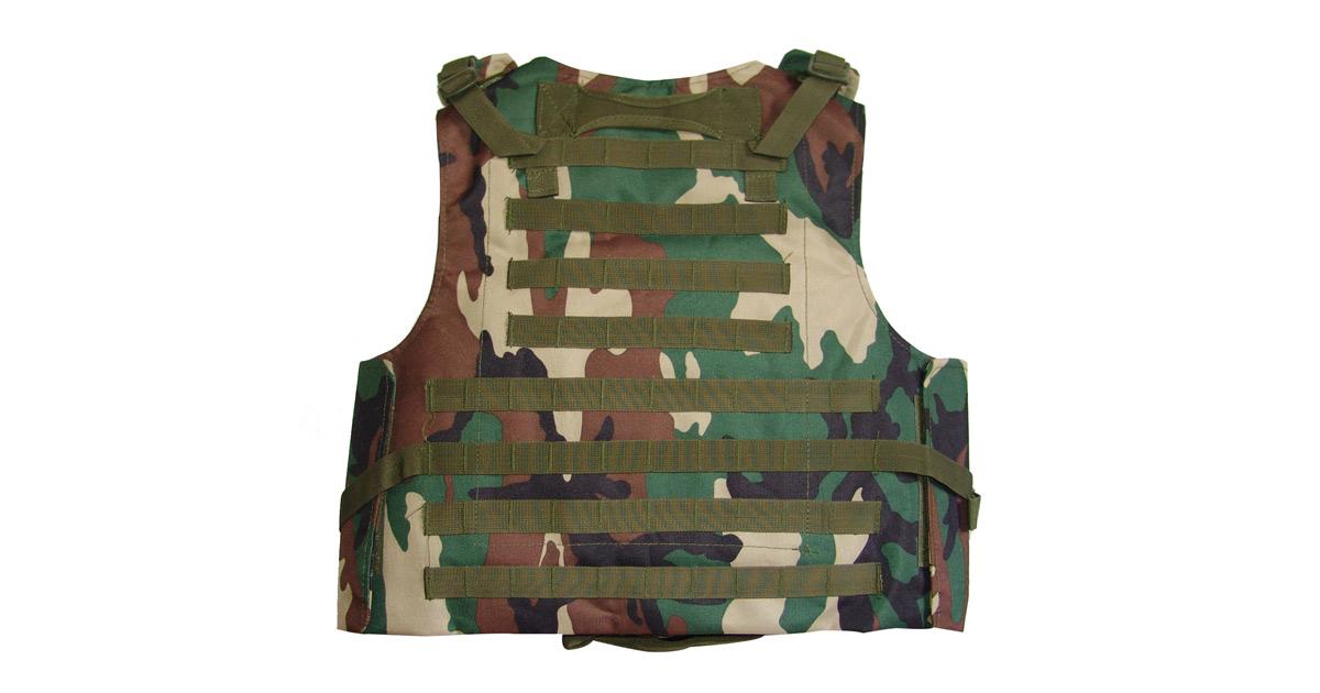 Tactical Vest (Heavy Duty, Woodland Camo) - NEW